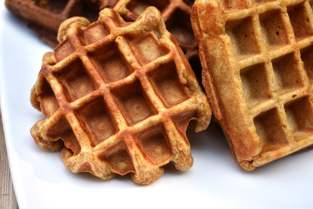 Best 30-minute meals for families: Sweet Potato Waffles at On the Eaten Path