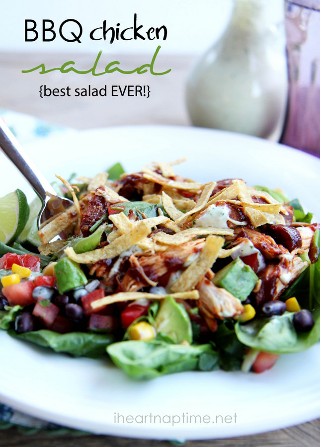 Best 30 minute meals for families: BBQ Chicken Salad at I Heart Naptime