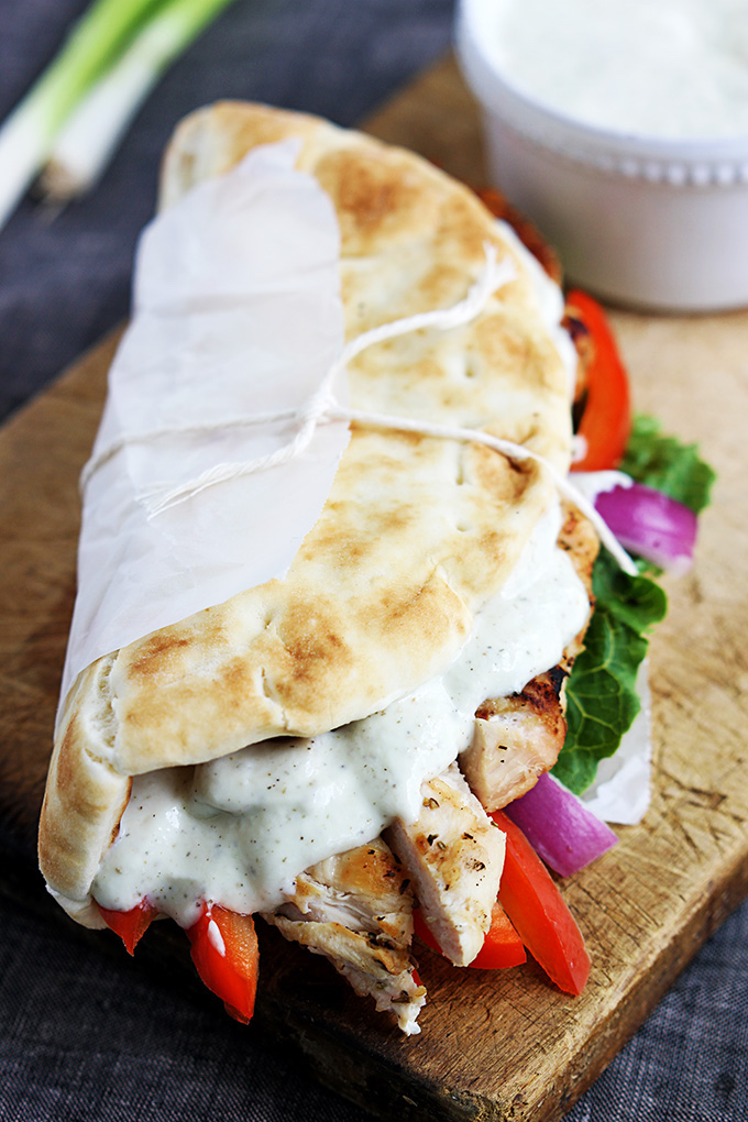 Cool Mom Eats weekly meal plan: Chicken Gyros at Creme de la Crumb