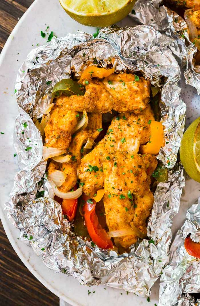 Best 30 minute meals for families: Foil Packet Fajitas at The Life Jolie