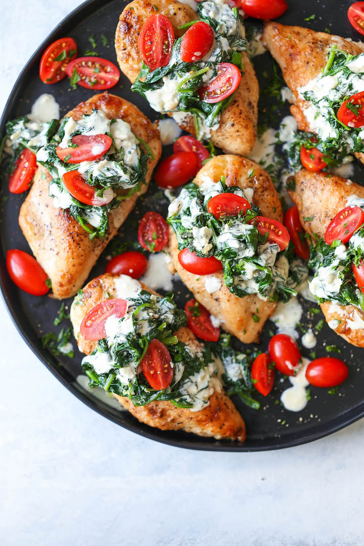 Cool Mom Eats weekly meal plan: Chicken Florentine with White Wine Cream Sauce | Damn Delicious