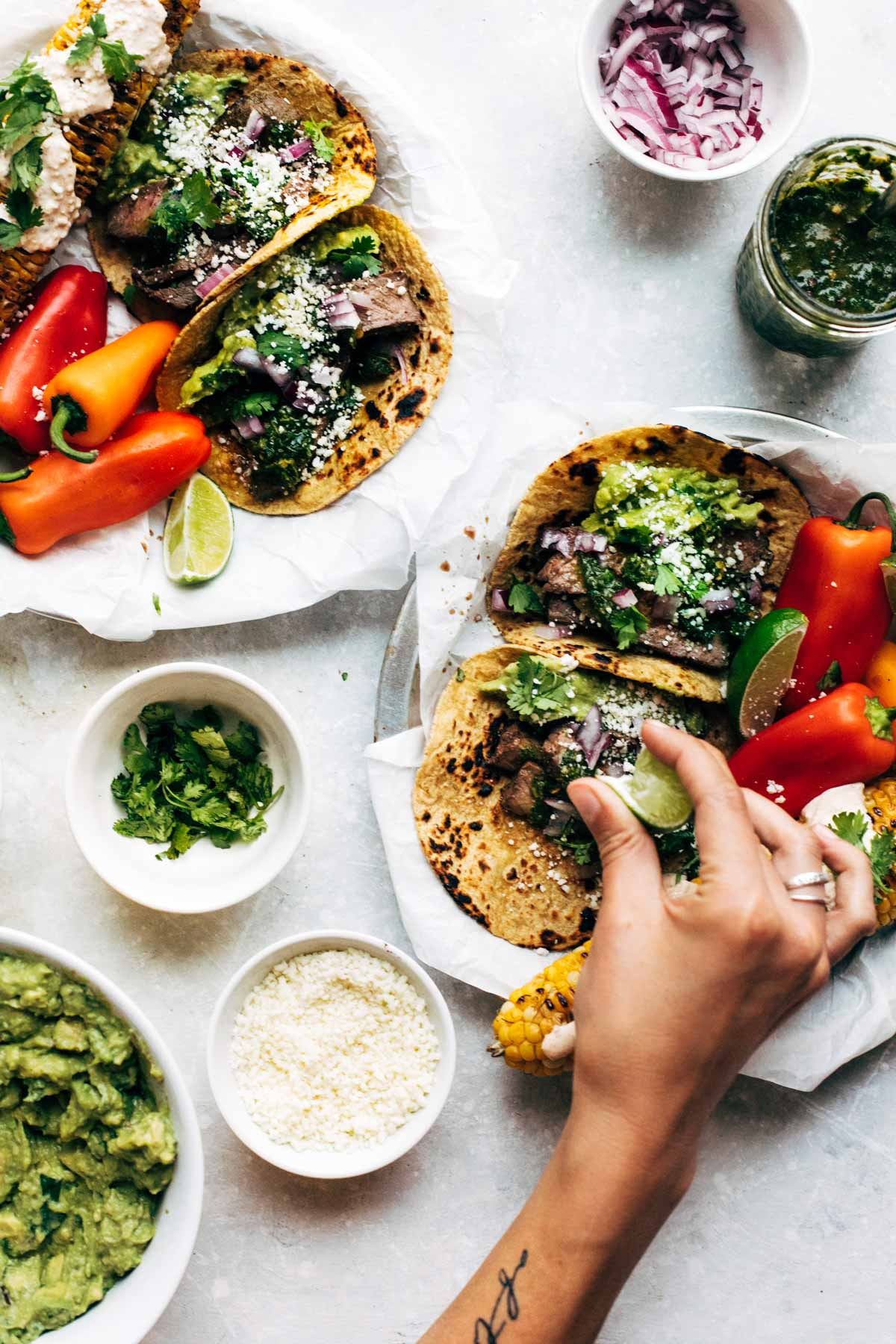 Cool Mom Eats weekly meal plan: Chimichurri Steak Tacos at Pinch of Yum