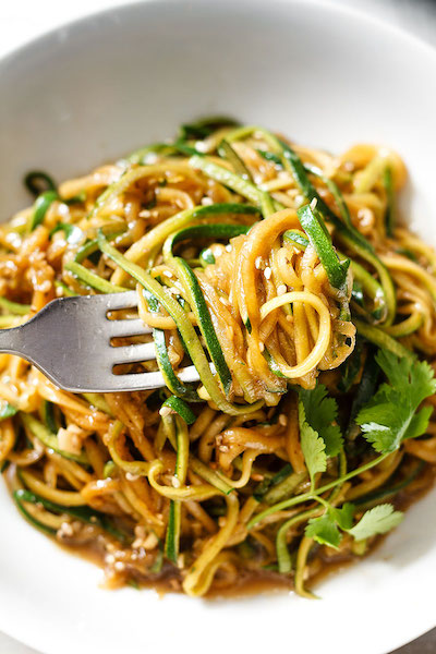 Cool Mom Eats weekly meal plan: Teriyaki Zucchini Noodles at Eat Well 101