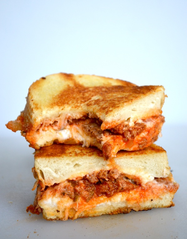 Cool Mom Eats weekly meal plan: Lasagna Grilled Cheese at Rachel Schultz