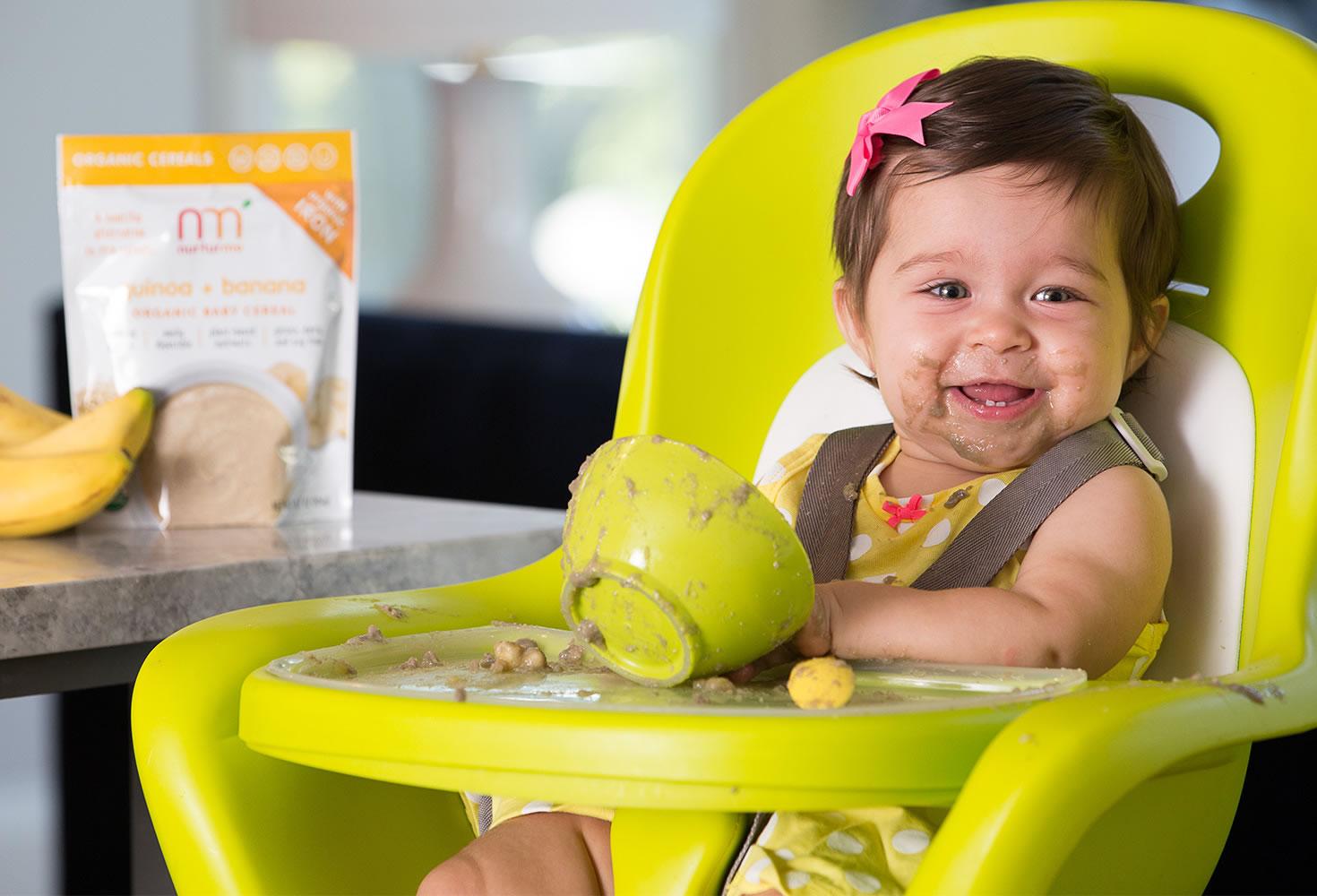 NurturMe ancient grains quinoa-apple cereal | coolmomeats.com | sponsor