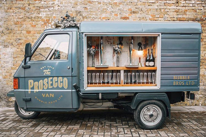 Bubble Bros on Instagram: A Prosecco bar on wheels. We're in!