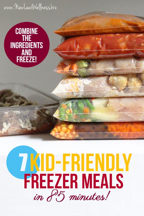 Back to school freezer meals: 7 Healthy Crockpot Freezer Meals | New Leaf Wellness