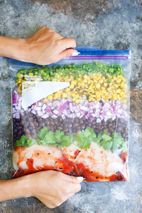 Back to school freezer meals: Slow Cooker Cilantro Lime Chicken   Damn Delicious