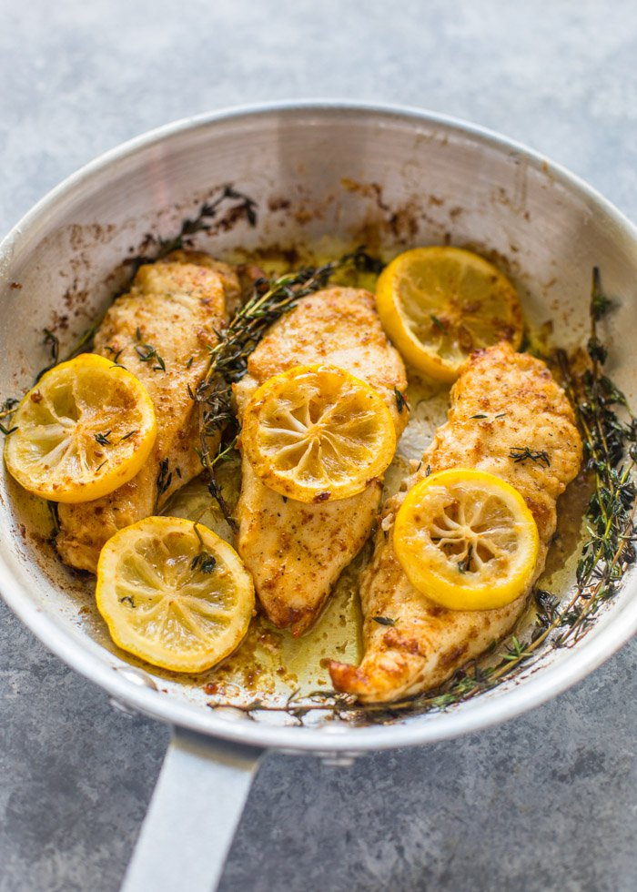 Best easy chicken recipes for families: 15 Minute Skillet Lemon Butter Chicken | Gimme Delicious