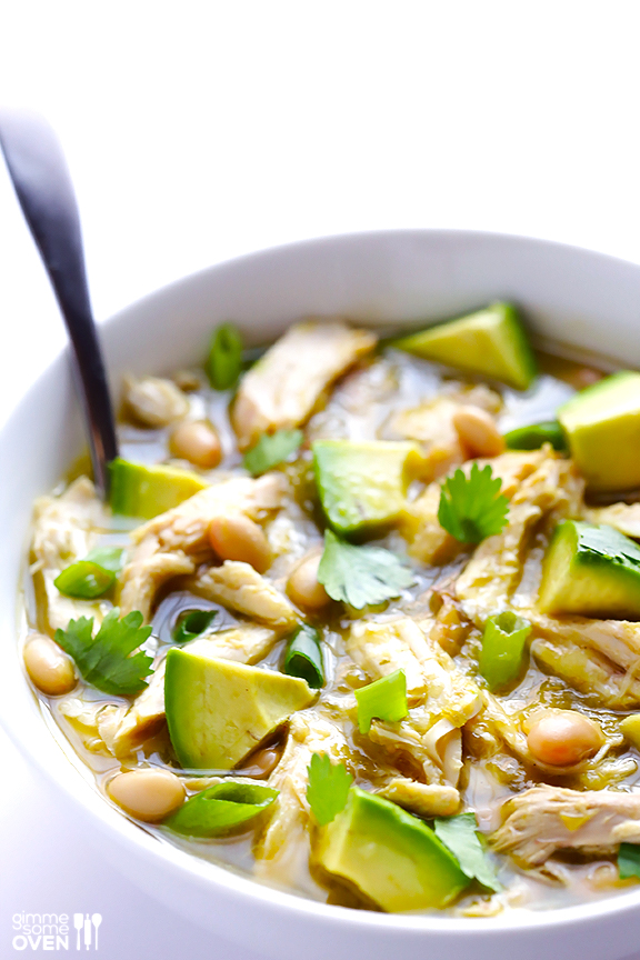 Best easy chicken recipes for families: 5-Ingredient White Chicken Chili at Gimme Some Oven