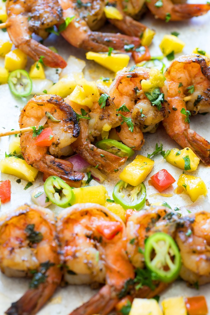 Cool Mom Eats weekly meal plan: Pan Seared Shrimp with Tropical Salsa at Real Food by Dad