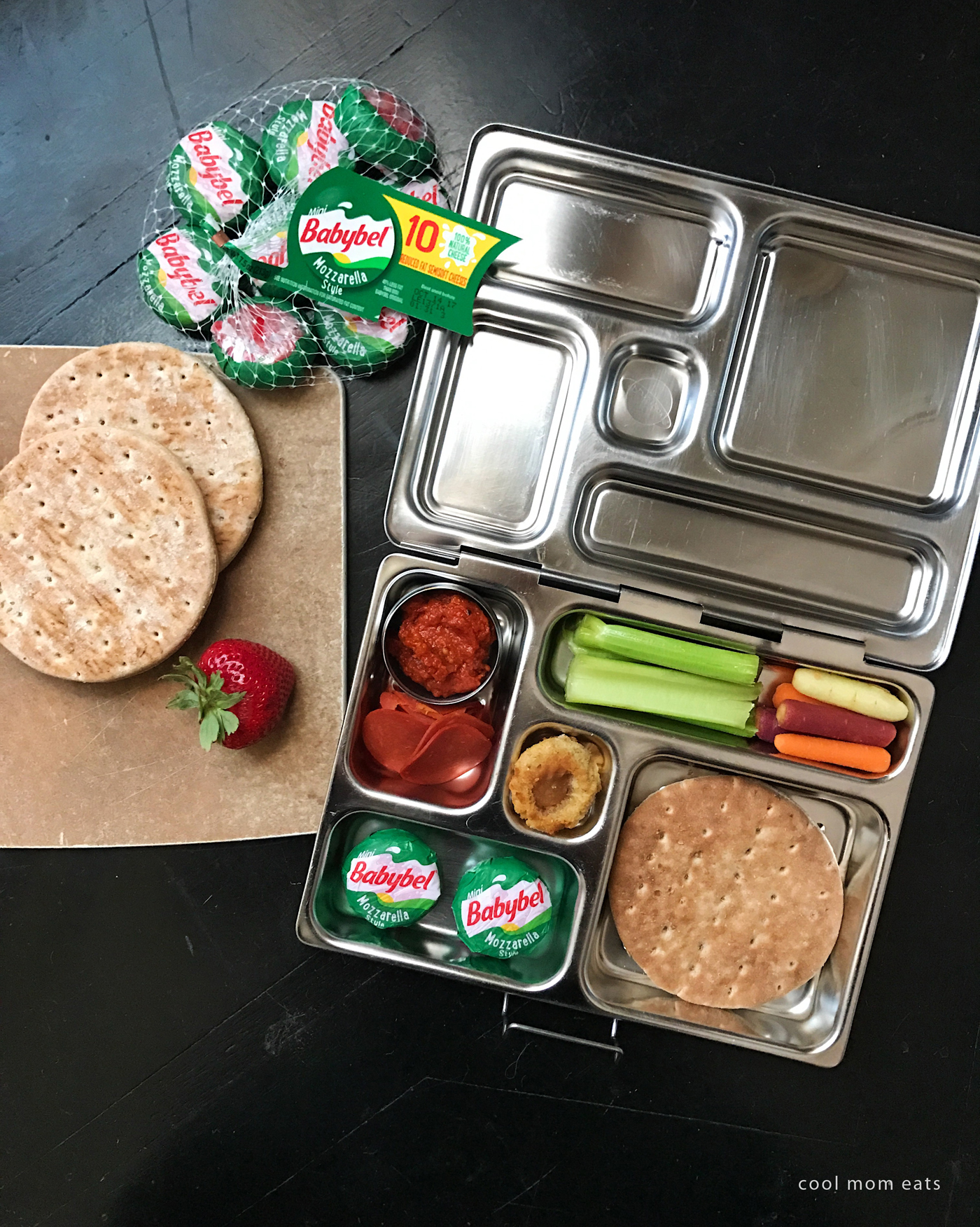 Fun school lunch ideas: Easy Lunch Box Pizza recipe with Mini Babybel | Cool Mom Eats [sponsor]