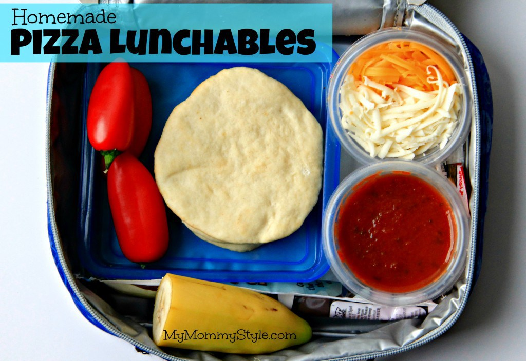 Lunchbox pizza recipes: Homemade Pizza Lunchables | My Mommy Style