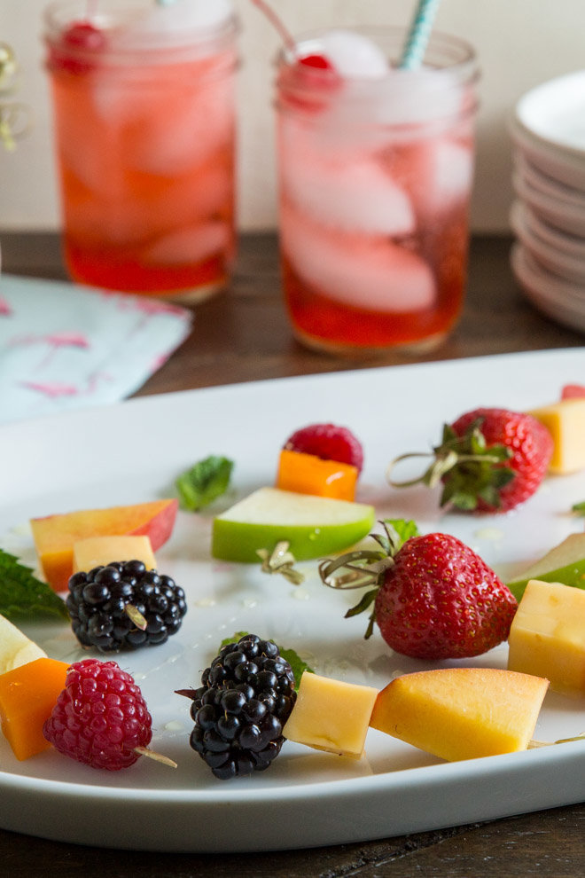 Nut-free snack recipes: Fruit and Cheese Skewers at Culinary Hill