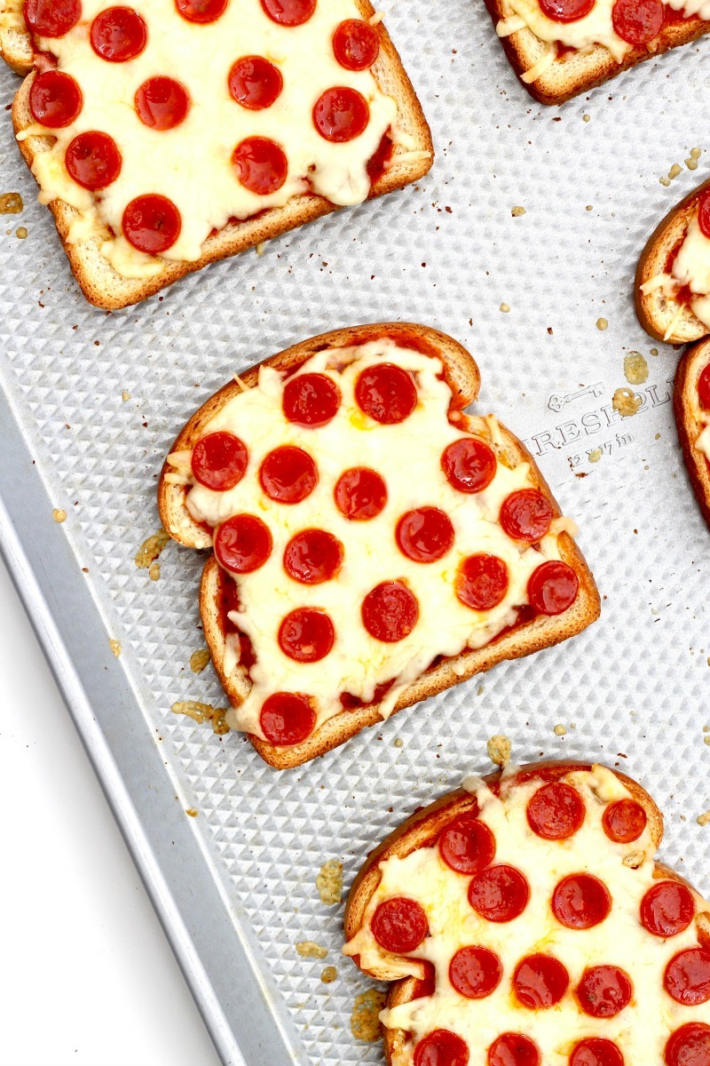 Nut-free snack recipes: Pizza Toast at Baker Mama