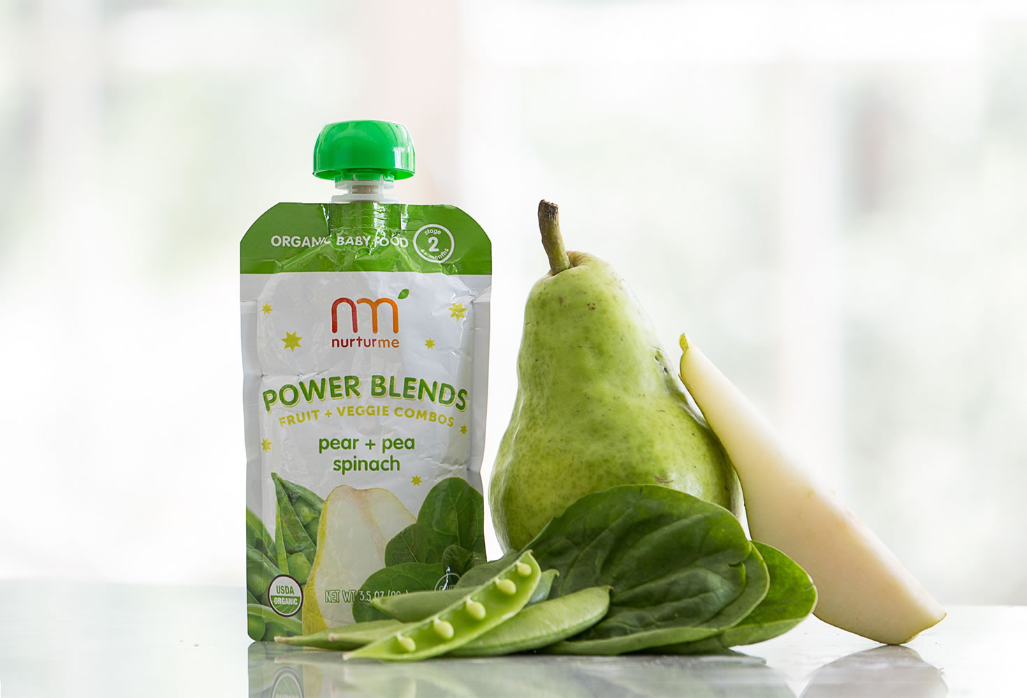 NurturMe Power Blend Purees are loaded with superfoods like spinach that are great for babies! | coolmomeats.com | sponsor
