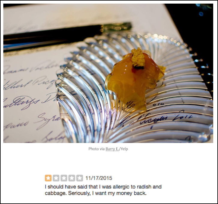 One-Star Yelp Reviews of Five-Star San Francisco Restaurants | The Bold Italic