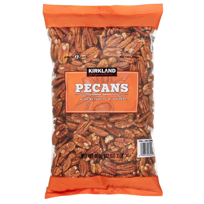 School lunch savings at Costco: Nuts, including their own brand, like these Kirkland Pecans | Cool Mom Eats