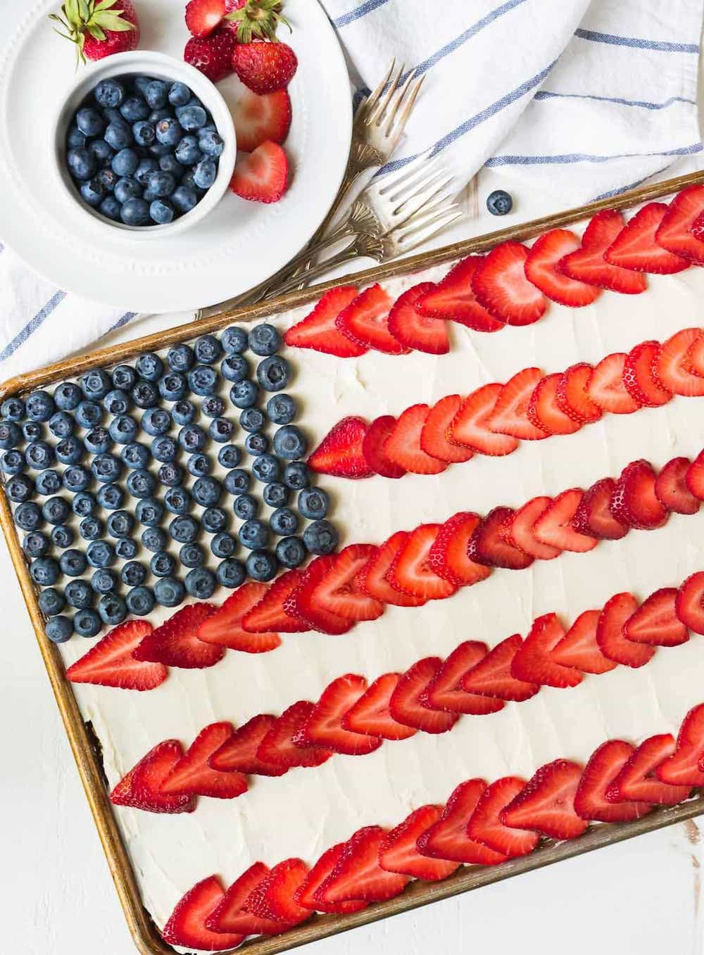 Best sheetcaking recipes: American Flag cake at Well Plated