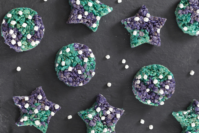 Easy solar eclipse treats for last-minute fun: Galaxy Rice Krispies Treats at Kraft