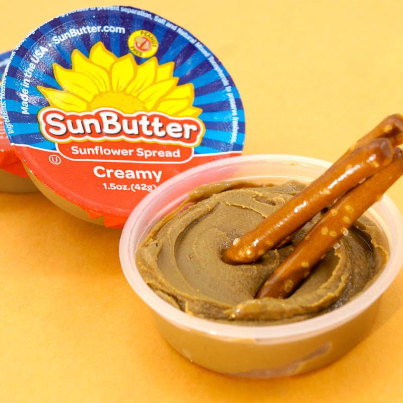 SunButter On the Go Single Cups are great high protein snack you can grab at the store if your child doesn't eat nuts or goes to a nut-free school -- and they have just as much protein as many nut spreads! | Cool Mom Eats