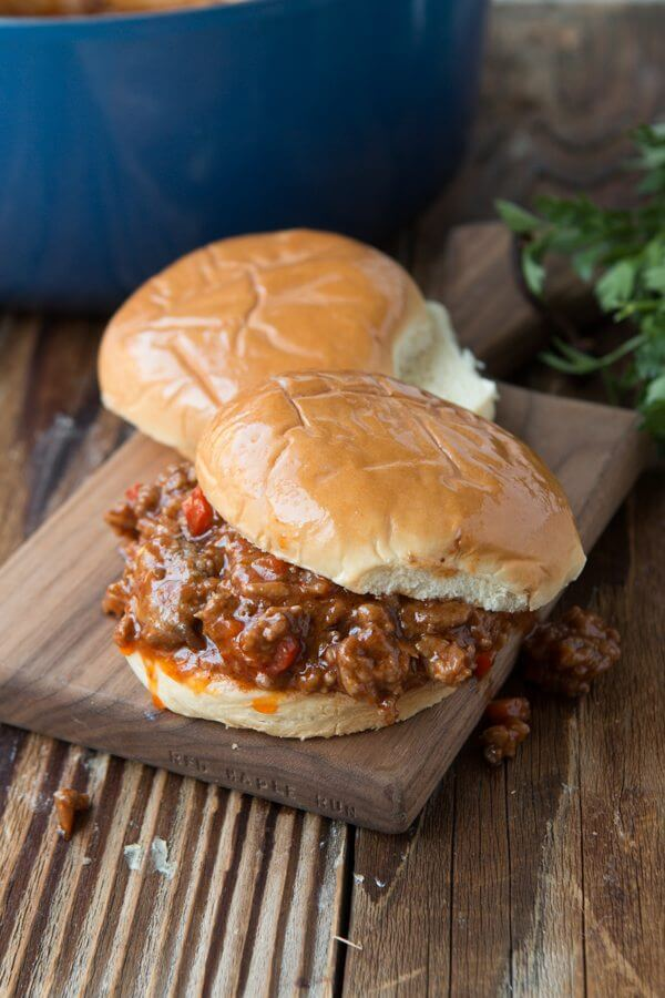 Cool Mom Eats weekly meal plan: The best Sloppy Joe recipe at Oh Sweet Basil