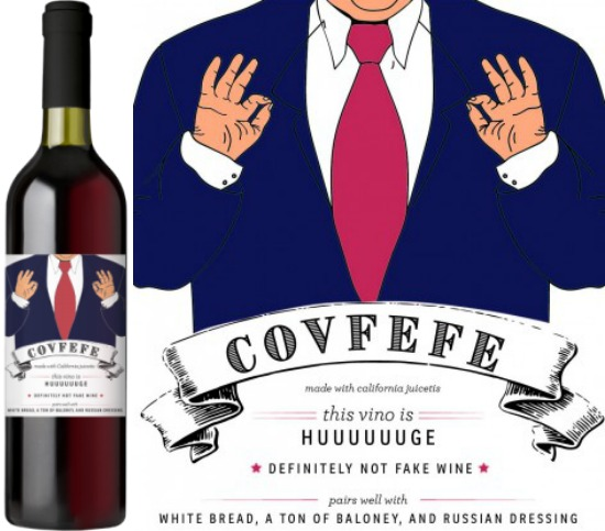 Buy Covfefe red wine, donate 20% to the ACLU