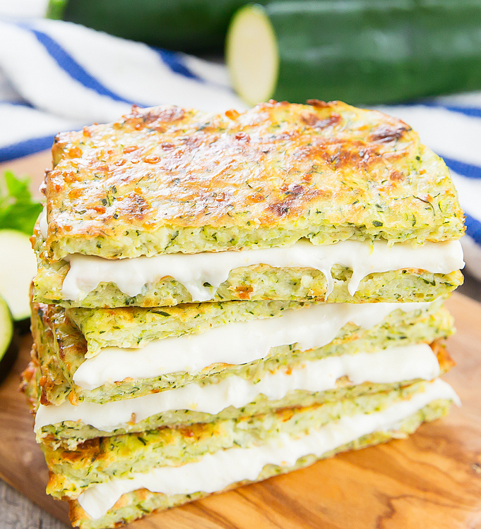 One of our favorite ways to enjoy grilled cheese for dinner: Zucchini Crusted Grilled Cheese | Kirbie Cravings