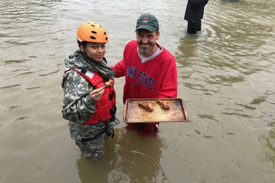 Heart-warming acts of food kindness during Hurricane Harvey.