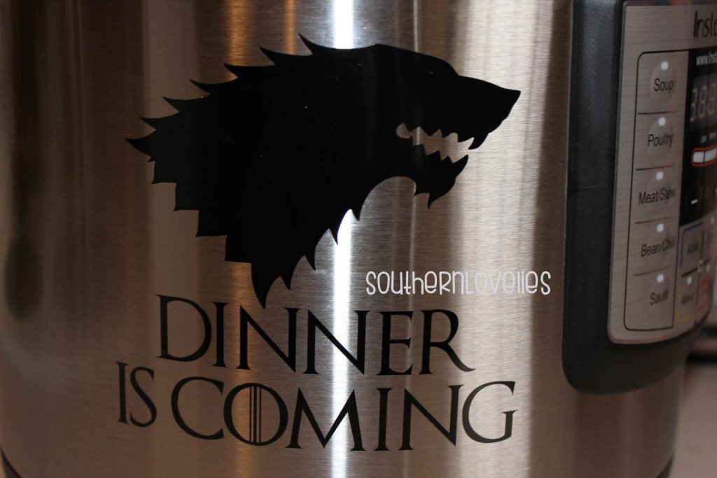 game of thrones instant pot decal