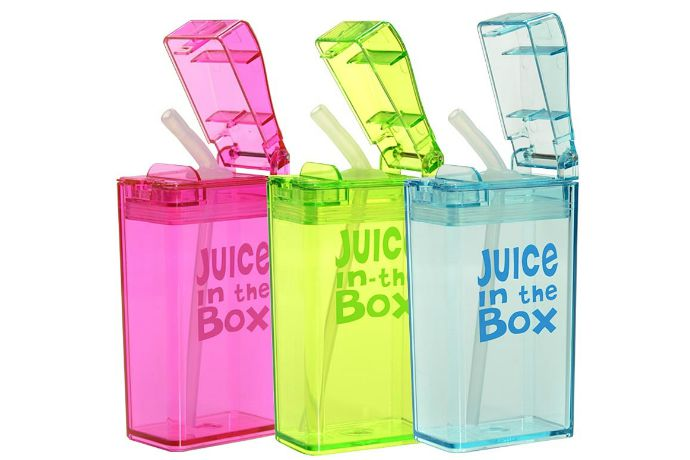 Low-sugar juice box alternatives for healthier school lunches: Juice in a Box reusable juice boxes | Cool Mom Eats
