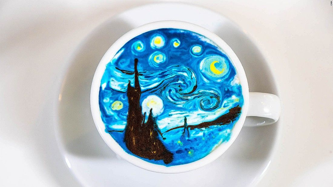 Seoul barista transforms coffee into beautiful works of art | CNN Travel