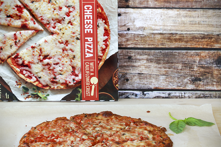 Our 15 favorite healthy Trader Joe's products to help make healthy eating easier: Gluten-Free Cauliflower Crust Pizza | Cool Mom Eats