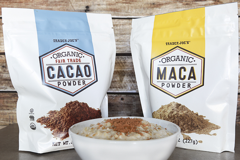 New products to pick up at Trader Joe's this month: Organic Cacao and Organic Maca Powders | Cool Mom Eats
