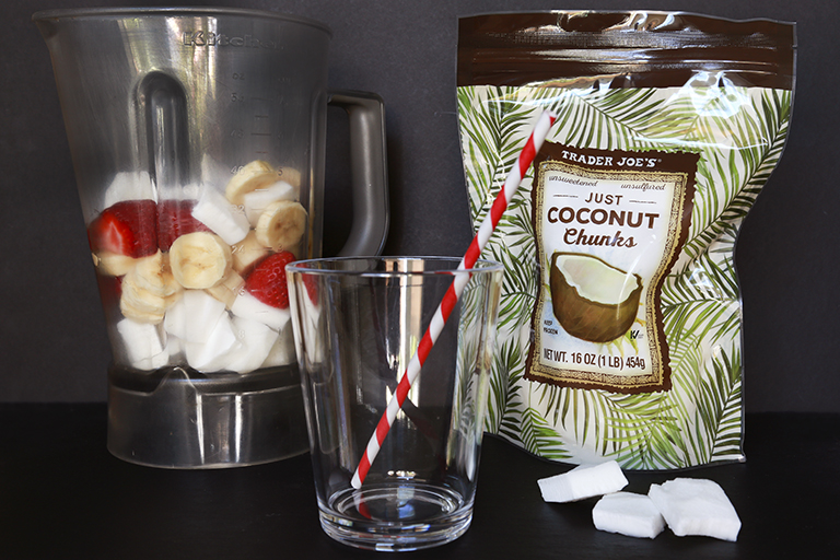 Our 15 favorite healthy Trader Joe's products to help make healthy eating easier: Frozen Coconut Chunks | Cool Mom Eats