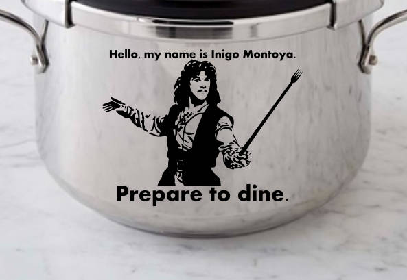 Princess Bride instant pot decal