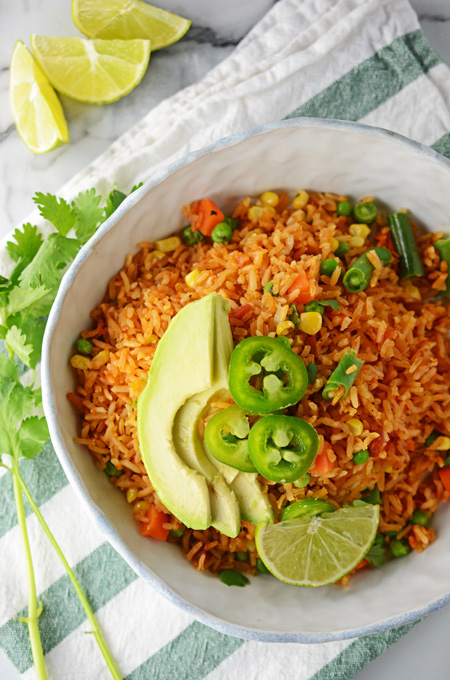 5 genius ways to use frozen vegetables for faster, easier weeknight dinners: Easy Mexican Red Rice | The Cake Chica