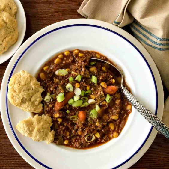 5 genius ways to use frozen vegetables for faster, easier weeknight dinners: Pressure Cooker Hamburger Stew | Two Sleevers