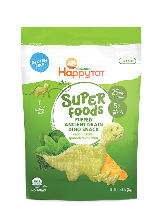 Happy Tot Superfood Puffed Dino Snacks featured at Cool Mom Eats [sponsor]