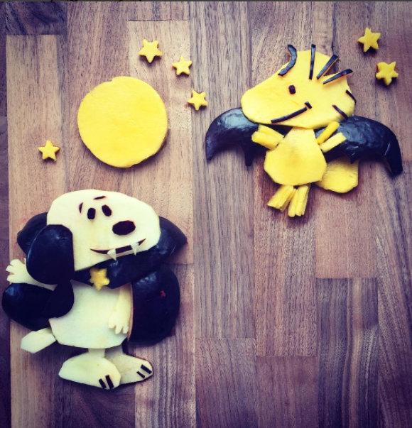 Halloween food art by Shannon Mazzei | foodartfun on Instagram