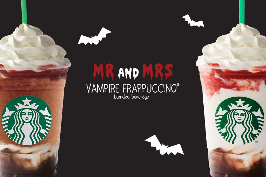 All the Starbucks Halloween drinks. Yes, including Vampire Frappuccinos.