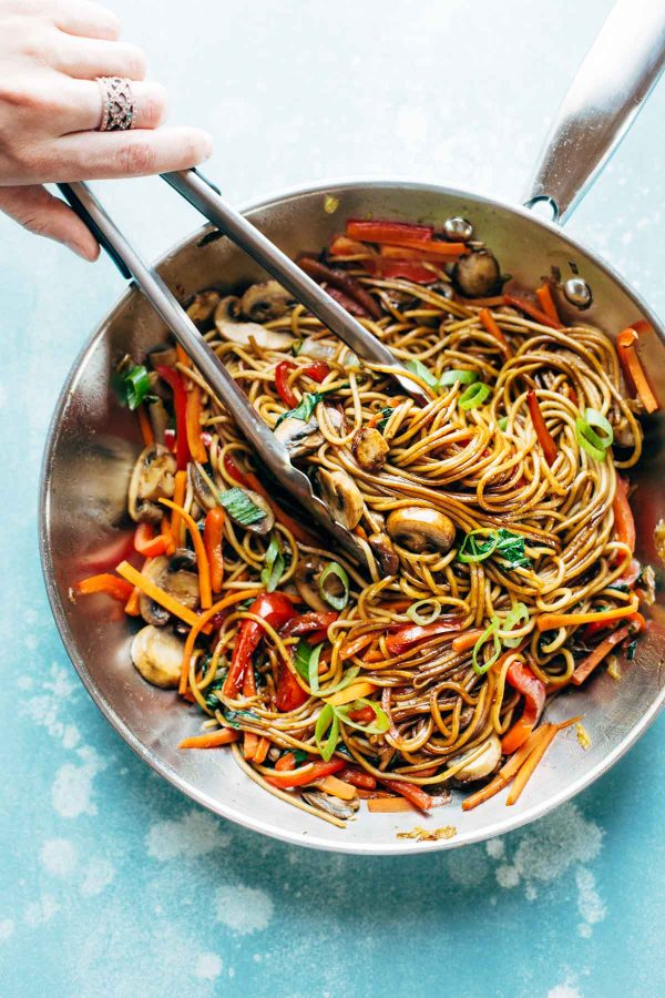 Cool Mom Eats weekly meal plan: 15-Minute Lo Mein at Pinch of Yum
