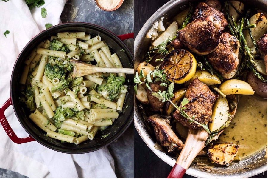 Next week's meal plan: 5 easy recipes for the week ahead, from a 30-minute skinny pasta to a one-pan lemony chicken.