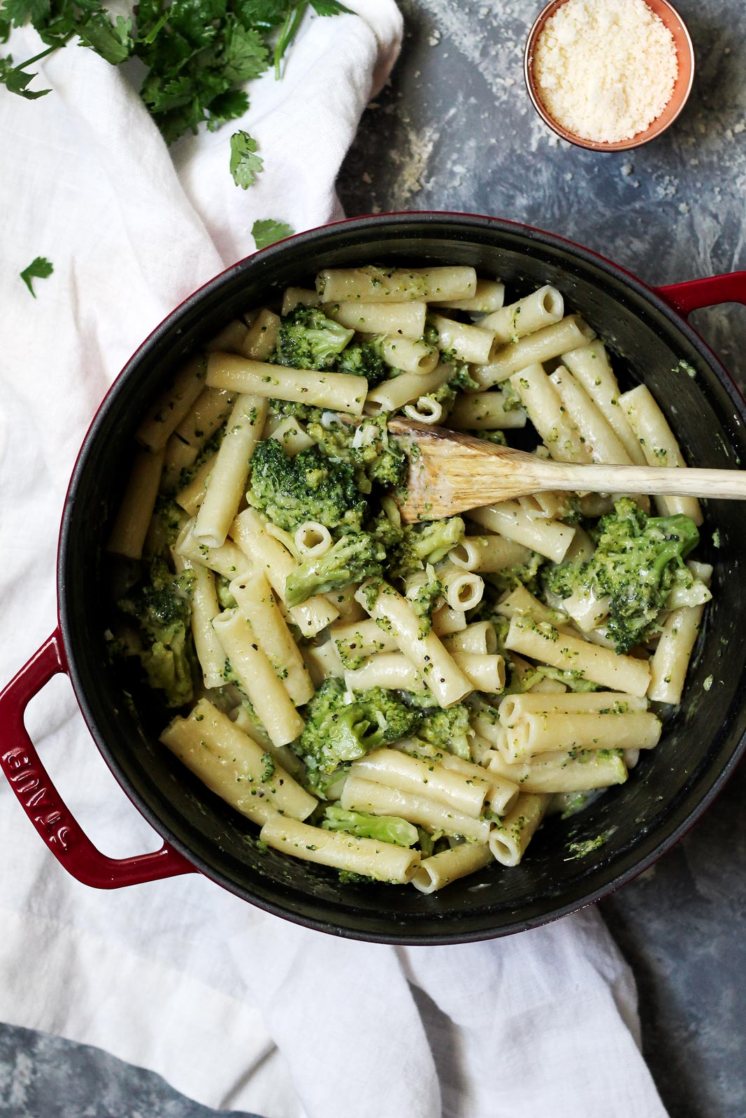 Cool Mom Eats weekly meal plan: 30-Minute Skinny Alfredo Ziti with Broccoli at Ambitious Kitchen