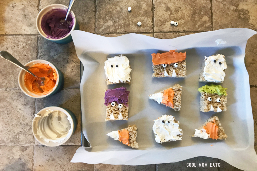 How to turn one batch of Rice Krispies Treats into three wickedly easy Halloween snacks.
