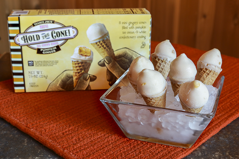 Our favorite new Trader Joe's products October 2017: Pumpkin Hold the Cone ice cream treats   Cool Mom Eats