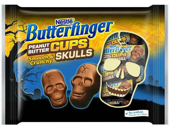 All the new halloween candy that you have to try for Halloween 2017! Butterfinger Peanut Butter Cup Skulls | Cool Mom Eats