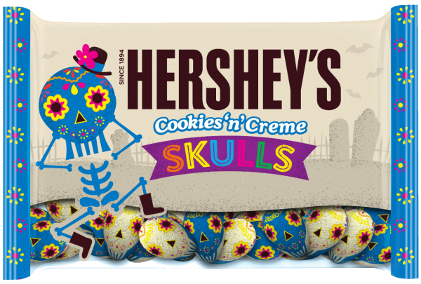 All the new halloween candy that you have to try for Halloween 2017! Hershey's Cookies 'n' Creme Skulls | Cool Mom Eats
