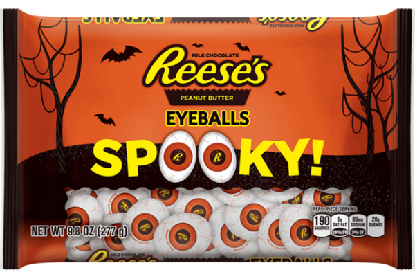 All the new halloween candy that you have to try for Halloween 2017! Reese's Peanut Butter Eyeballs | Cool Mom Eats