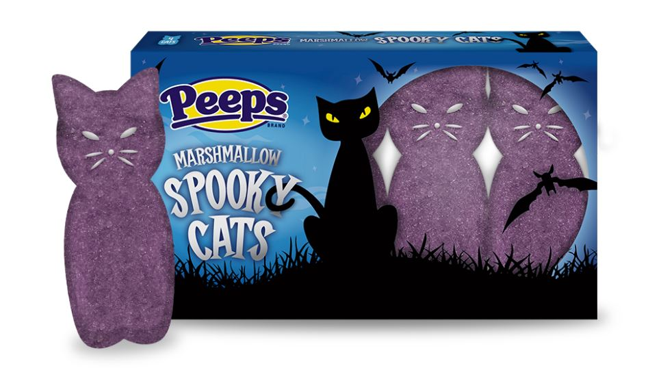 Allergy-free Halloween candy guide at Cool Mom Eats: New for Halloween and safe for all (except those with a dairy allergy due to potential cross contamination) Peeps Marshmallow Spooky Cats